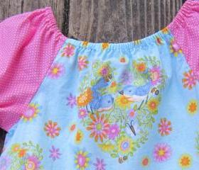 Peasant top for little girl size 3